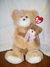 """2005 TY Classic Bear Plush CRADLES the Bears 2 Bear set w/Baby 16"""" With Tag"""