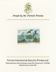 St Lucia 3351 - 1985 Frigate Bird 10c on FORMAT INTERNATIONAL PROOF CARD