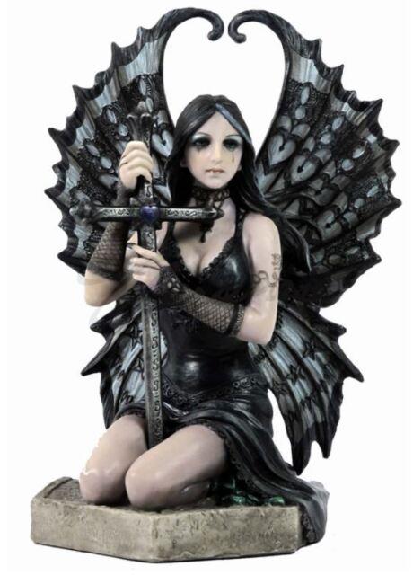 Lost Love Gothic Angel Statue Dark Sword Fairy Figurine