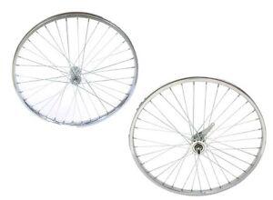 "Bicycle 26/"" x 1.75/"" Steel Front Wheel 36 Spoke 12g 3//8 Axel Chrome Cruiser Bike"