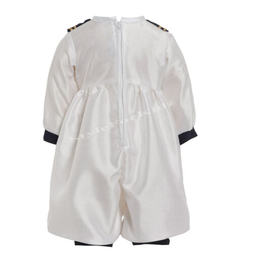 BABY BOYS CHRISTENING OUTFIT ROMPER SUIT NAVY WHITE SAILOR OCCASION WEAR GOWN