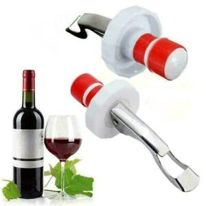 Edelstahl-Flaschenoeffner-Stopper-Plug-Champagner-Wein-Bar-Tools-Sealer-Bier