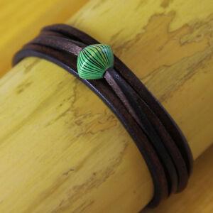 Herrenarmband-Damenarmband-Surferarmband-Lederarmband-Armband-Wickelarmband-Goa