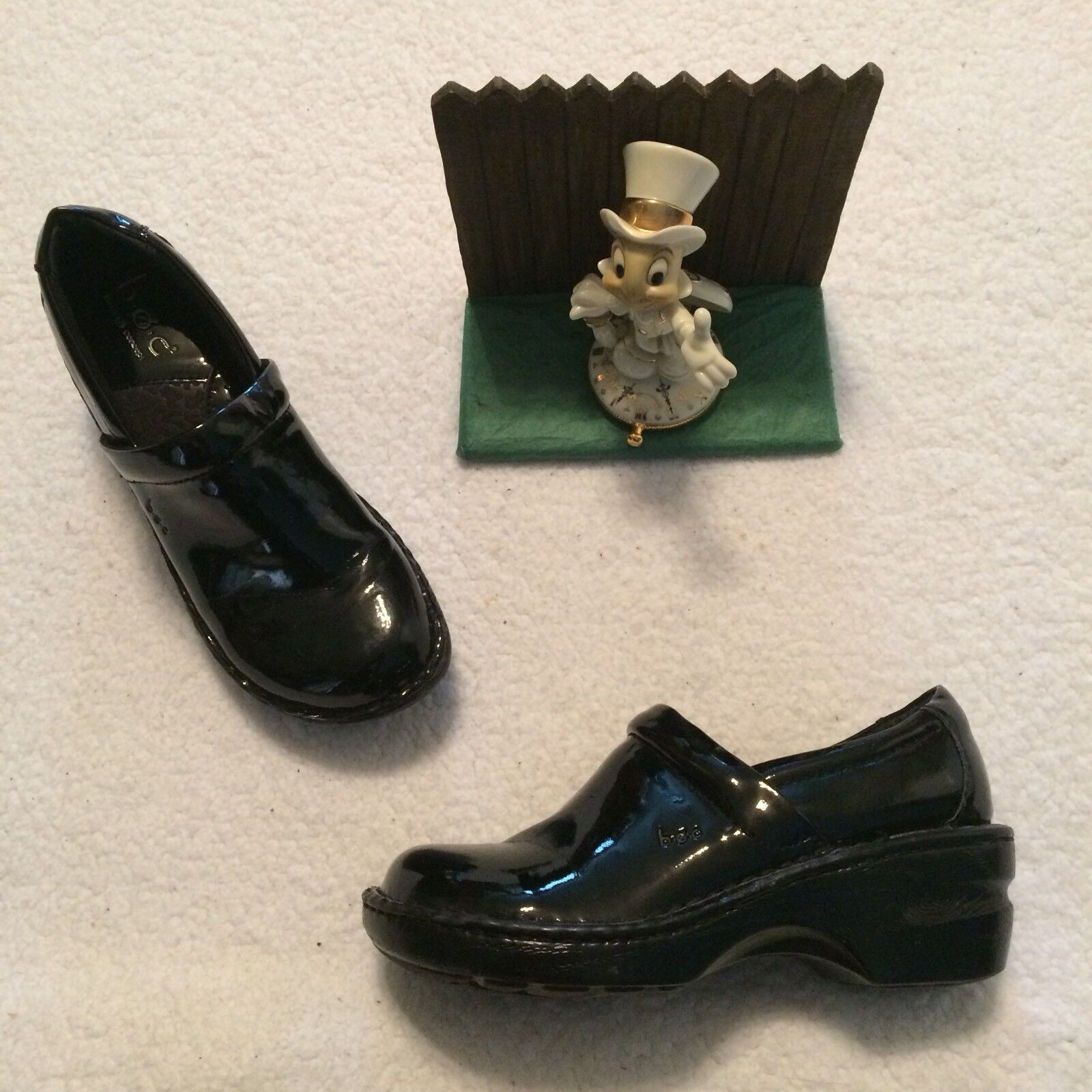 BOC Born Concepts Clogs 6.5   37 Peggy Black Patent Leather Professional BC9632