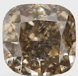 0-17-Ct-Natural-Loose-Diamond-Cushion-Greenish-Brown-3-00X2-90X2-10MM-I1-L2489
