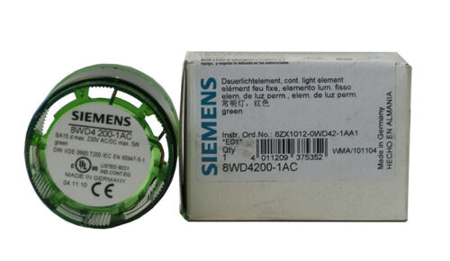 Siemens 8WD4200-1AC 8WD4 200-1AC Continuous Light Element Green Diameter 50 MM NEW