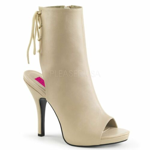Pleaser eve-102 mini-plataforma botín beige noche zapato Business tabledance...