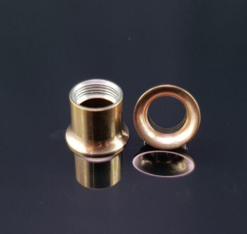 TUNNEL PLUG DOUBLE FLARED filettatura interna orecchio in acciaio inox 2-20mm NERO ROSE ORO