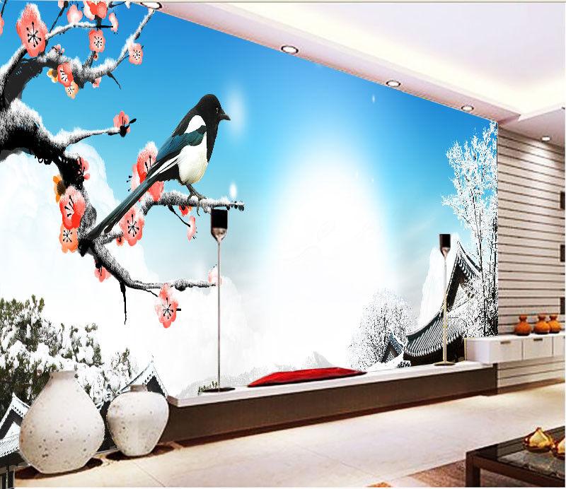 3D Houses Snow Bird  7 Wall Paper Murals Wall Print Wall Wallpaper Mural AU Kyra