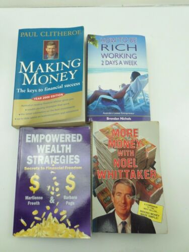 1 of 1 -  4xBOOKS MAKING MONEY MORE MONEY EMPOWERED WEALTH HOE TO BE RICH  B354