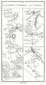 Antique-map-Roads-from-Limerick-to-Clonmell-amp-Cashell-2-Clonmell-to-Birr-1