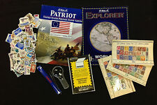 Stamp Starter Collection- Harris Albums, Stamps (US & Worldwide), Tongs, Hinges*