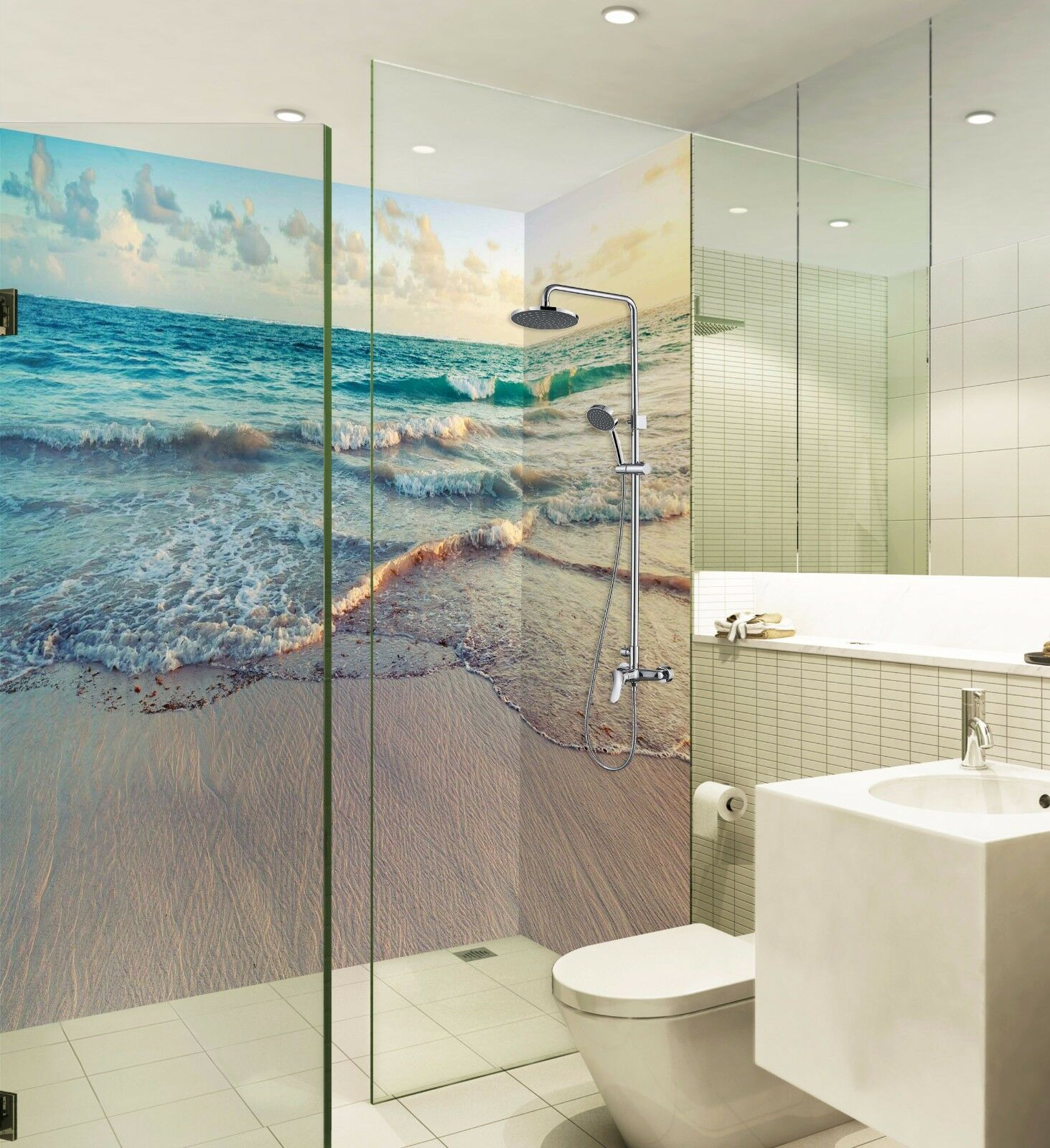 3D Seabeach 784  WallPaper Bathroom Print Decal Wall Deco AJ WALLPAPER AU