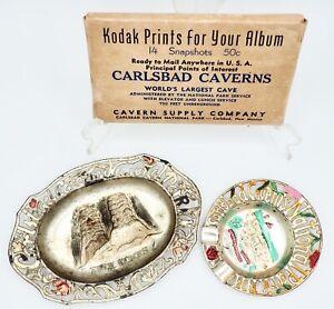 Vintage Souvenir Lot Carlsbad National Park Caverns Ashtrays Photos New Mexico