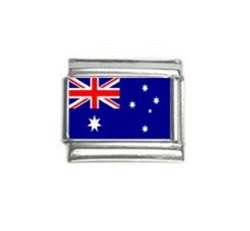 Italian Charms Charm Flags Australia Australian Flag