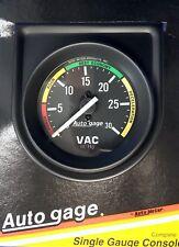Auto Meter Autogage 2337 Black Single Gauge Consol 2 Vacuum Gauge