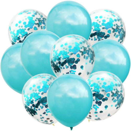 10pcs//lot 12inch Glossy Metal Latex Balloon Glitter Confetti Baloons Kids