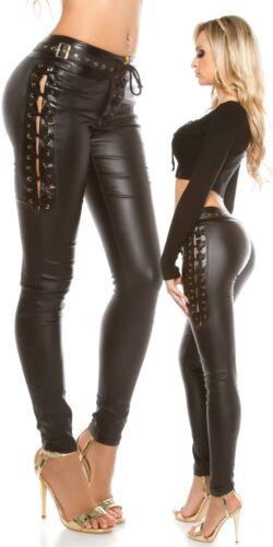 Leatherlook con allacciatura Koucla Pantaloni da donna CwPOT6q