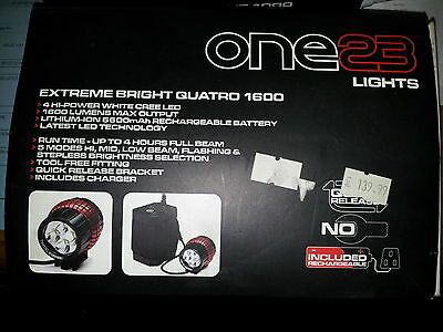 One23  Extreme Bright Quatro 1600 Lumin Rechargeable Lights Set rrp £139.99