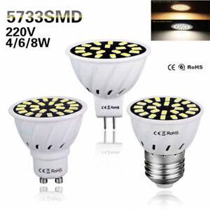 1-6-Pcs-4W-6W-8W-LED-Spotlight-GU10-MR16-E27-5733-SMD-Lamp-Bulb-Light-110V-220V