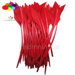 50-Pcs-red-arrow-turkey-feathers-25-30-CM-10-12-INCH-for-jewelry-Diy-Carnival