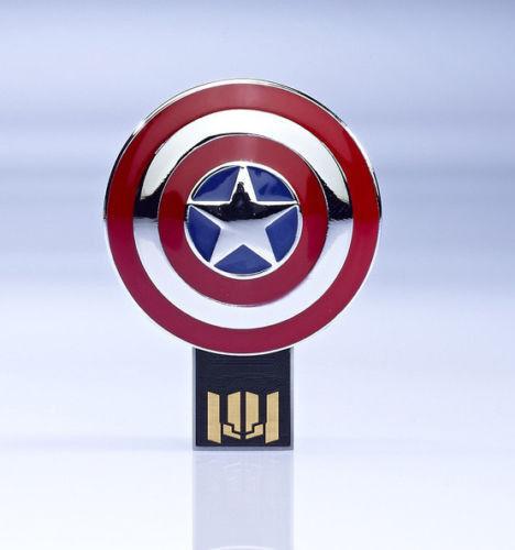 USB 4GB 8GB 16GB 32G Marvel Captain America The WInter Soldier Flash Drive Metal