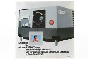Broschuere-Leica-Leitz-Pradovit-Color-Diaprojektor-Zeitschrift