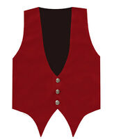 Steampunk Mens Red Velvet Vest Edwardian Regency Downton Gothic Waistcoat