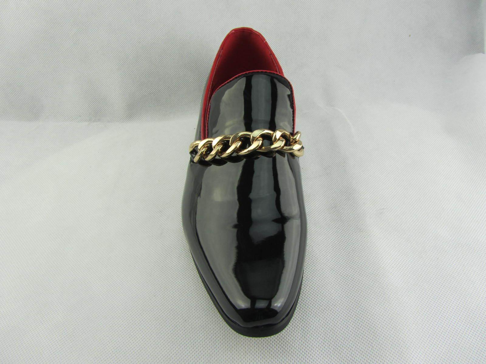 rossellini en cuir chaussures brillantes doublé mocassins prince hommes doublé brillantes or talon paresseux 719e66