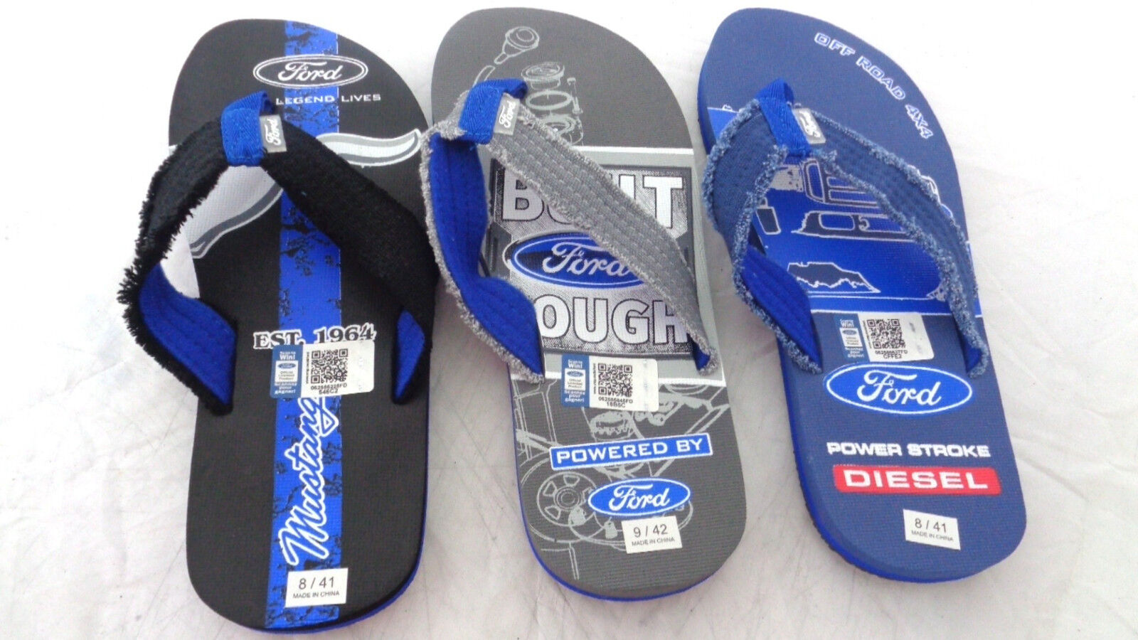 86307abb5898 Mens Ford Ford Ford Tough Sandals Flip Flop Ford Motors Men s Sizes Beach  Sandals f47703