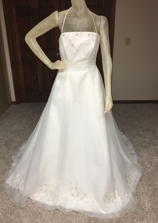 Jasmine Wedding Dress Größe 12 Ivory Beaded Can be worn strapless