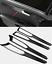 Carbon fiber Interior Door Handle Frame Cover Trim For Ford Fusion Mondeo 17-20