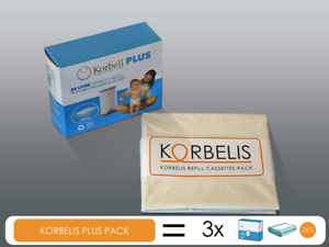 Original Kassetten 26 Liter KORBELIS PLUS PACK = 3x Korbel Plus