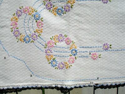 Cross Stitch Chart Daisy Chain Table Runner
