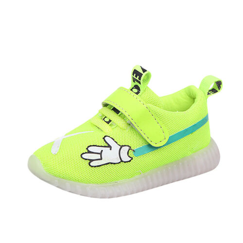 Kids Toddler Boys Girls Sport Running Shoes LED Light Up Luminous Mesh Sneakers