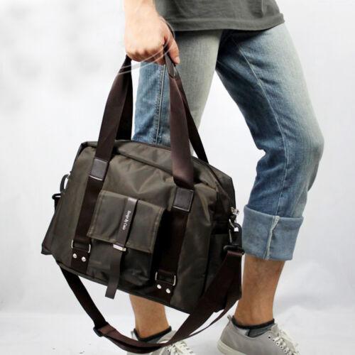 Men Nlyon Handbag Messenger Shoulder Cross Body Laptop Table PC Travel Tote Bag