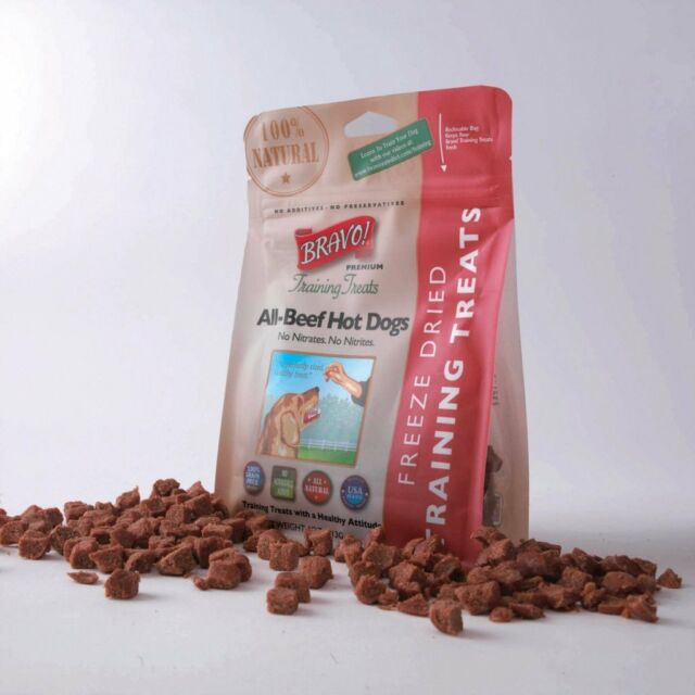 Bravo! Freeze-Dried Beef Hot Dog - Dog Training Treats SHORT SALE