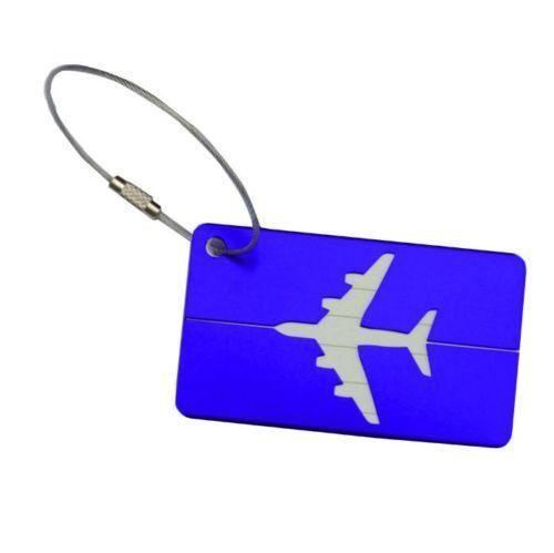 Tag ID Bagaglio in Alluminio Bagaglio Valigia Bagaglio ID Di Viaggio Etichetta Indirizzo Nome etichetta 2-50Pcs e3945d
