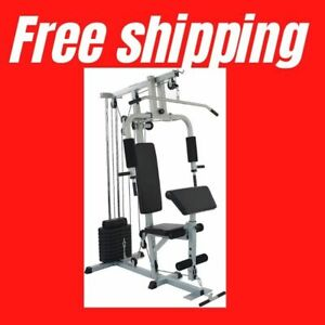 Home Gym System Workout Station with 330LB of Resistance, 125LB Weight Stack