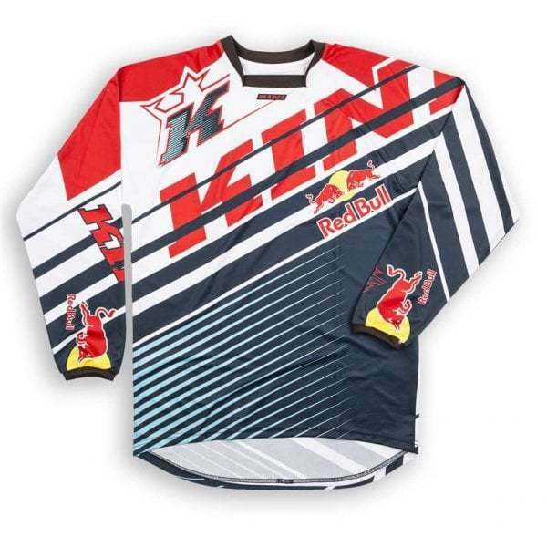 Kini Redbull  Adults 17 RB Vintage Motocross MX Enduro Jersey - Red  bluee  authentic