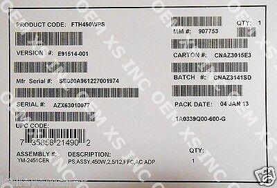 FDW450WPS Intel Server Chassis SR1400 AC Power Supply FDW450WPS