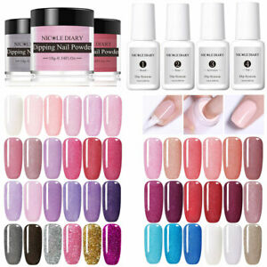 10Pcs-Set-NICOLE-DIARY-Colorful-Dipping-Nail-Powder-Dip-Liquid-System-Nail-Kits