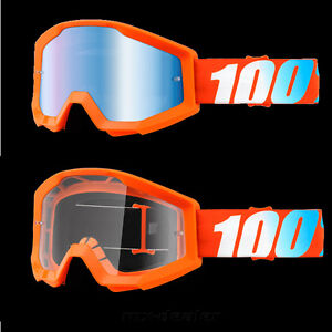 100% pour cent strata Orange Lunettes Motocross Enduro alpin MTB Cross BMX quad 							 							</span>