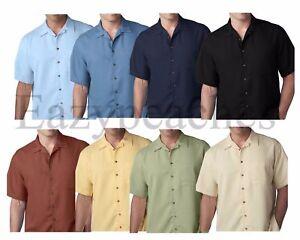 UltraClub-034-CUBAVERA-STYLE-034-Men-039-s-S-6XL-Cabana-Breeze-Button-Down-Camp-Shirt-8980