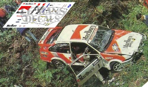 Decals ford sierra rs cosworth rally llanes 1988 decals sainz