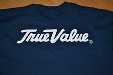 True Value Hardware Store Basic Logo T Shirt Medium Uniform Worker Navy Nice DIY