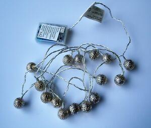 Palla-Decorativa-Di-Natale-Stringa-Luci-Energia-della-batteria-16-LED-2-55-M-BIANCO-CALDO