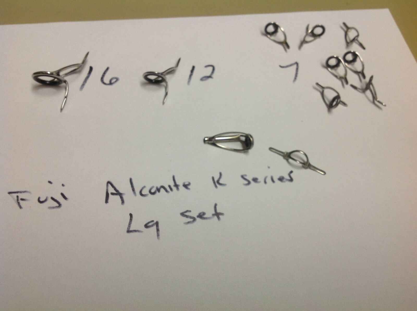 Fuji K Series alconite guides Casting Guides tangle free large set