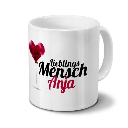 Tasse mit Namen Anja Motiv Lieblingsmensch