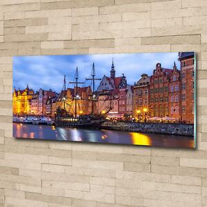 Glas-Bild Wandbilder Druck auf Glas 125x50 Deko Kunst Altstadt